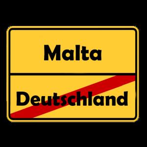 Auswandern nach Malta! Ortsschild Desing.