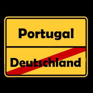 Auswandern nach Portugal! Ortsschild Desing.