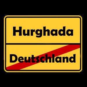 Auswandern nach Hurghada! Ortsschild Desing.