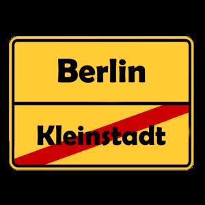 Umzug nach Berlin! Ortsschild Design.