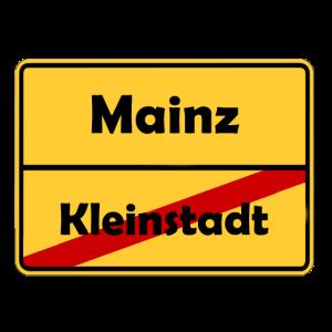 Umzug nach Mainz! Ortsschild Design.