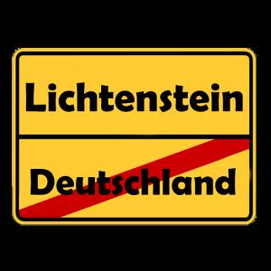 Auswandern nach Lichtenstein! Ortsschild Desing.