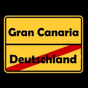 Auswandern nach Gran Canaria! Ortsschild Desing.