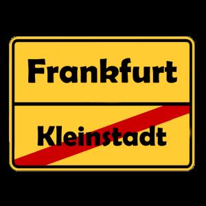 Umzug nach Frankfurt! Ortsschild Design.