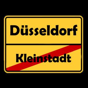 Umzug nach Düsseldorf! Ortsschild Design.
