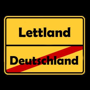 Auswandern nach Lettland! Ortsschild Desing.