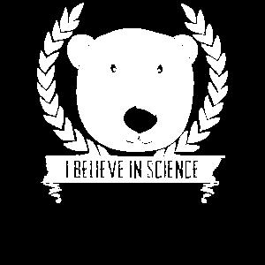 Eisbär ich glaube an den Klimawandel der Wissenschaft