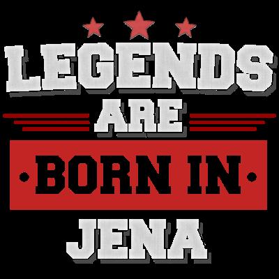 Legend are born in Jena - Legend are born in Jena - birthday present. Legenden sind in Jena geboren! - town,sind,present,lustiges,lustiger,liebe,legenden,in,heimat,geboren,born,birthday,are,Stadt,Spruch,Shirt,Legends,Jena,Heimatstadt,Geschenk,Geburtstagsgeschenk,Geburtstag,Dorf,Design