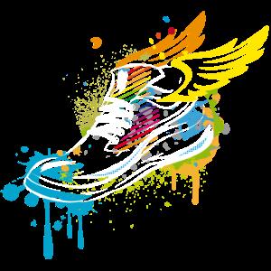 Sneaker mit Flügel