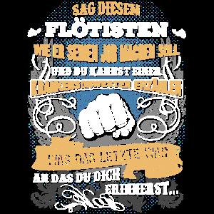 Edles Berufe-Shirt für den Flötisten