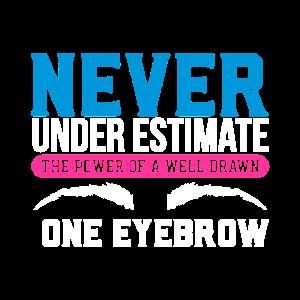 Unterschätze niemals die Kraft einer gut gezeichneten Augenbraue