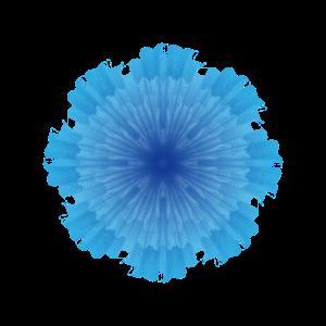 Kreative blaue Blume - komplex und dennoch elegant