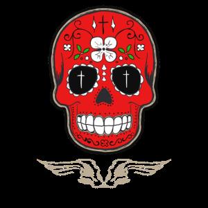 skull red totenkopf biker Motorrad tot Symbol gang