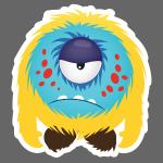cute grumpy monster 2