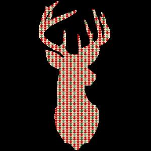 Weihnachten Reh - Geometrie Weihnachtsbaumdesign