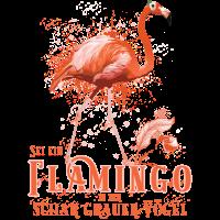 Flamingo unter Vögeln