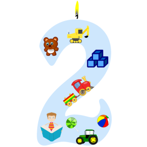 Zweiter Geburtstag Trecke Bagger 2 Jahre Geschenk