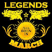 März Geschenk Geburtstag Legenden Geburt