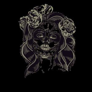 tod girl tattoo kostüm totenkopf rose Totentag lol