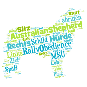 Rally Obedience Australian Shepherd Wordcloud