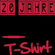 20. Geburtstagsshirt: geburtstag20