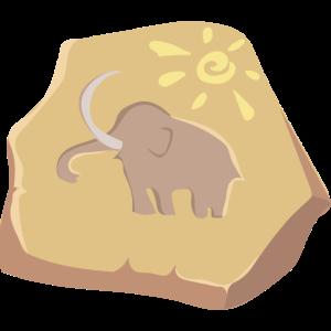 Steinzeit Wandbild