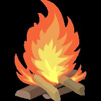 Steinzeit Lagerfeuer