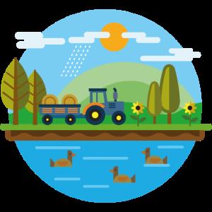 Bauernhof Leben gutes Leben