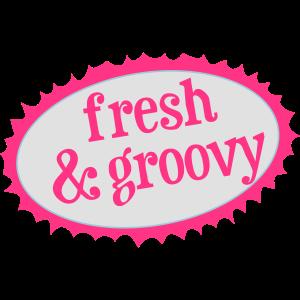 Frisches und grooviges Label