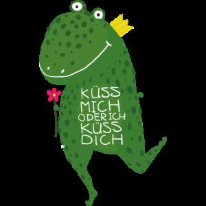küss mich Frosch Deutsch