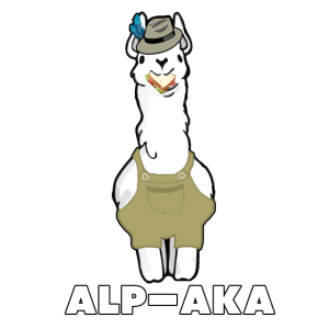 Lustiges Lama Alpaka Comic Tier Trend - Geschenk