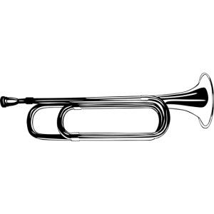 Trompeta blanco y negro