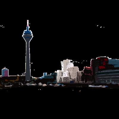 Düsseldorf - Düsseldorf am Rhein, dazu hat mich eine Freundin inspiriert. - stadt,skyline,rhein,düsseldorf