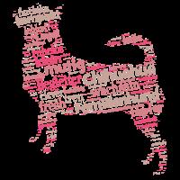 Chihuahua Charakter Shirt Wordcloud