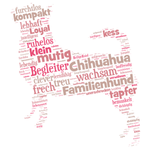 Chihuahua Charakter Shirt Wordcloud
