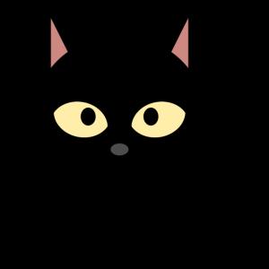 Schwarzes Kätzchen Katze süß Cartoon