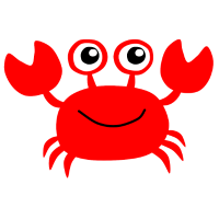Rote Krabbe Cartoon