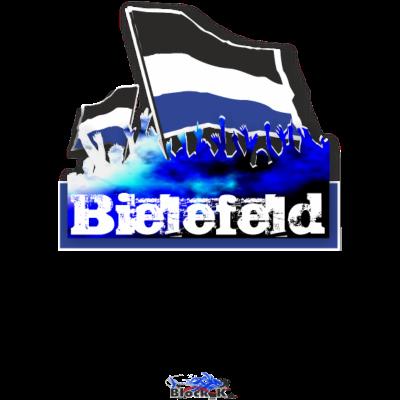 bielefeld - Bielefeld Fanshirt / Städteshirt - stadt,mob,fussball,flagday,feiern,fans,arena,Ultras,Städte,Stimmung,Stadion,Jubel,Flagge,Fanshirt,Fanblock,Fan,Fahne,Bielefeld