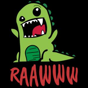Süsser Baby Dinosaurier T-Rex mit Washed Out Effek