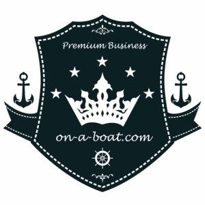 Logo on a boat com