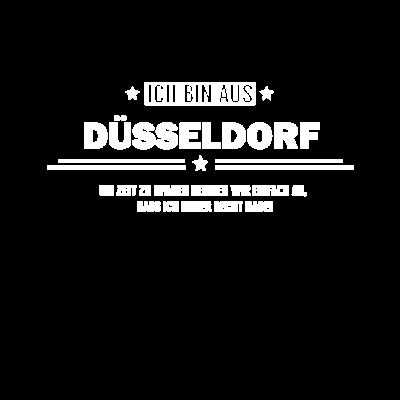 Ich bin aus Düsseldorf! Geboren in Düsseldorf - T-Shirt mit der Aufschrift ich bin aus Düsseldorf um Zeit zu sparen nehmen wir einfach mal an, dass ich immer Recht habe! Für Personen die aus Düsseldorf sind. Geburtsort Düsseldorf. - um zeit zu sparen,stolz,stadt,ort,lieblingsstadt,lieblingsort,ich komme aus,ich bin aus,großstadt,aufgewachsen in,Wohnort,T-Shirt mit Geburtsort,Geschenkidee,Geburtstag,Geburtsort,Freund,Düsseldorf