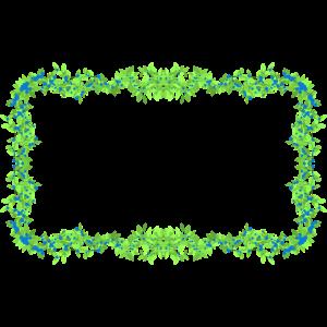 Blätter Rahmen grün blau