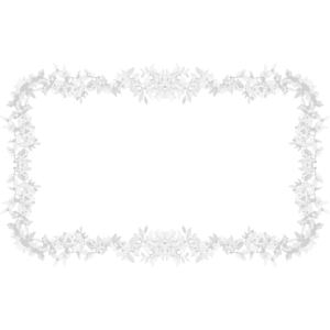 Blätter Rahmen weiß