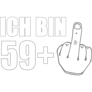 60 Years Funny Present - Finger