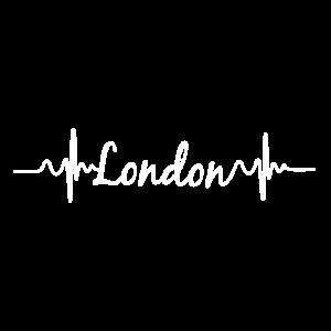 Herzschlag EKG London Hauptstadt Geschenk
