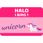 HALO I BIMS 1 unicorn