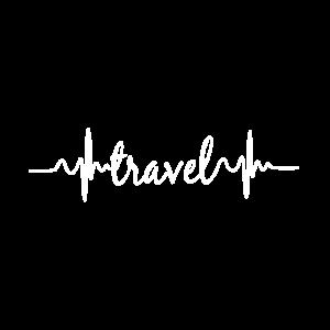 Herzschlag EKG Reisen Weltreise Travel Geschenk