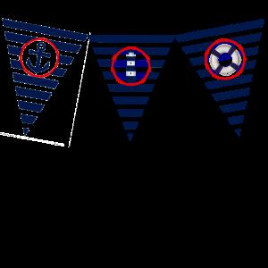 maritim, Meer, Leuchtturm, Flagge, wimpel