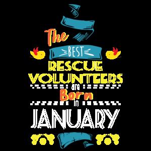 Best Rescue Volunteers sind im Januar Geschenk geboren