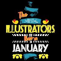 Beste Illustratoren werden im Januar als Geschenkidee geboren